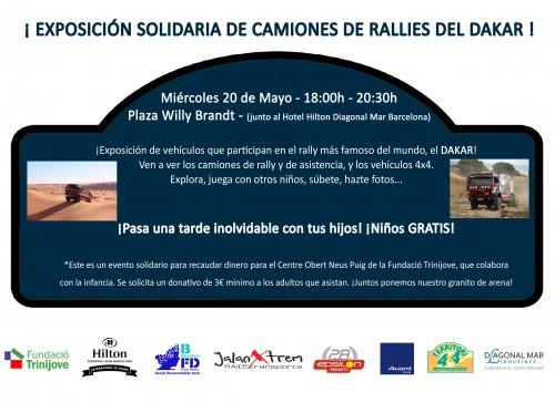 Exposició solidària de camions del Dakar