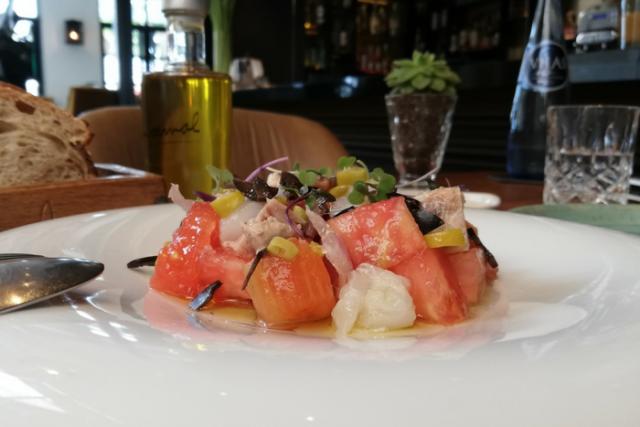 El plat solidari de l'Hotel The Serras