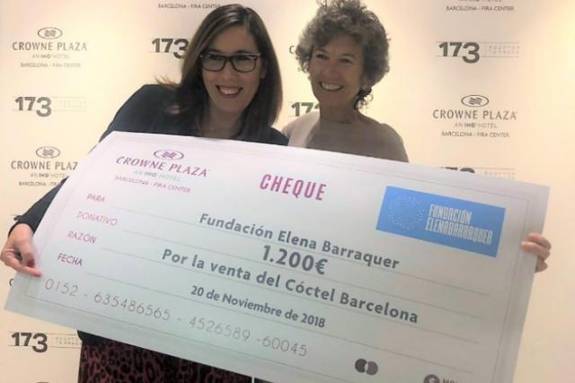 Crowne Plaza Barcelona recapta 1200 € amb el seu còctel solidari