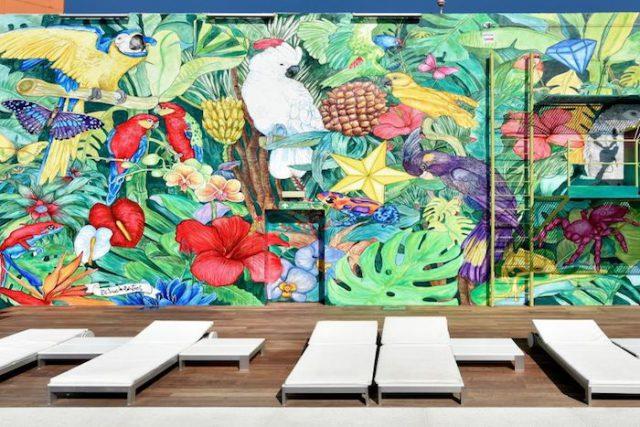 'Fantasía Utopía' és el nou mural sostenible de l'hotel Barcelona Princess