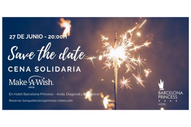 Barcelona Princess organitza un sopar solidari per crear il·lusió als nens amb malalties greus de Make-A-Wish Spain