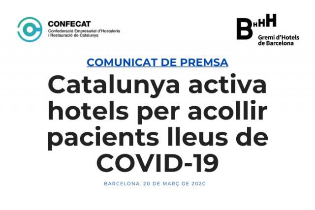 Catalunya activa hotels per acollir pacients lleus de COVID-19