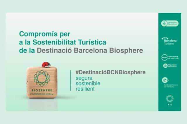 """El Gremi d'Hotels de Barcelona rep el distintiu """"Compromís per a la Sostenibilitat Turística de la Destinació Barcelona Biosphere"""""""